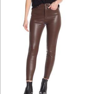 NWT Free People Brown Vegan Leather Pants